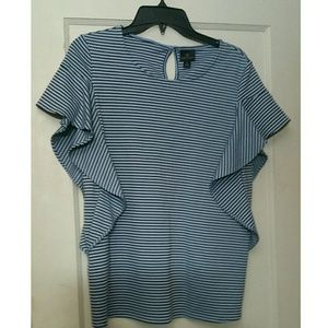 NWT Ruffle Sleeve Shirt